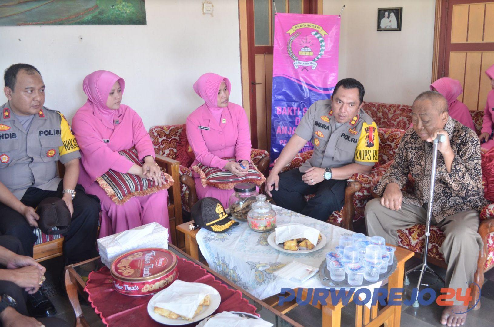 Anjangsana Kapolres Purworejo ke Purnawirawan POLRI