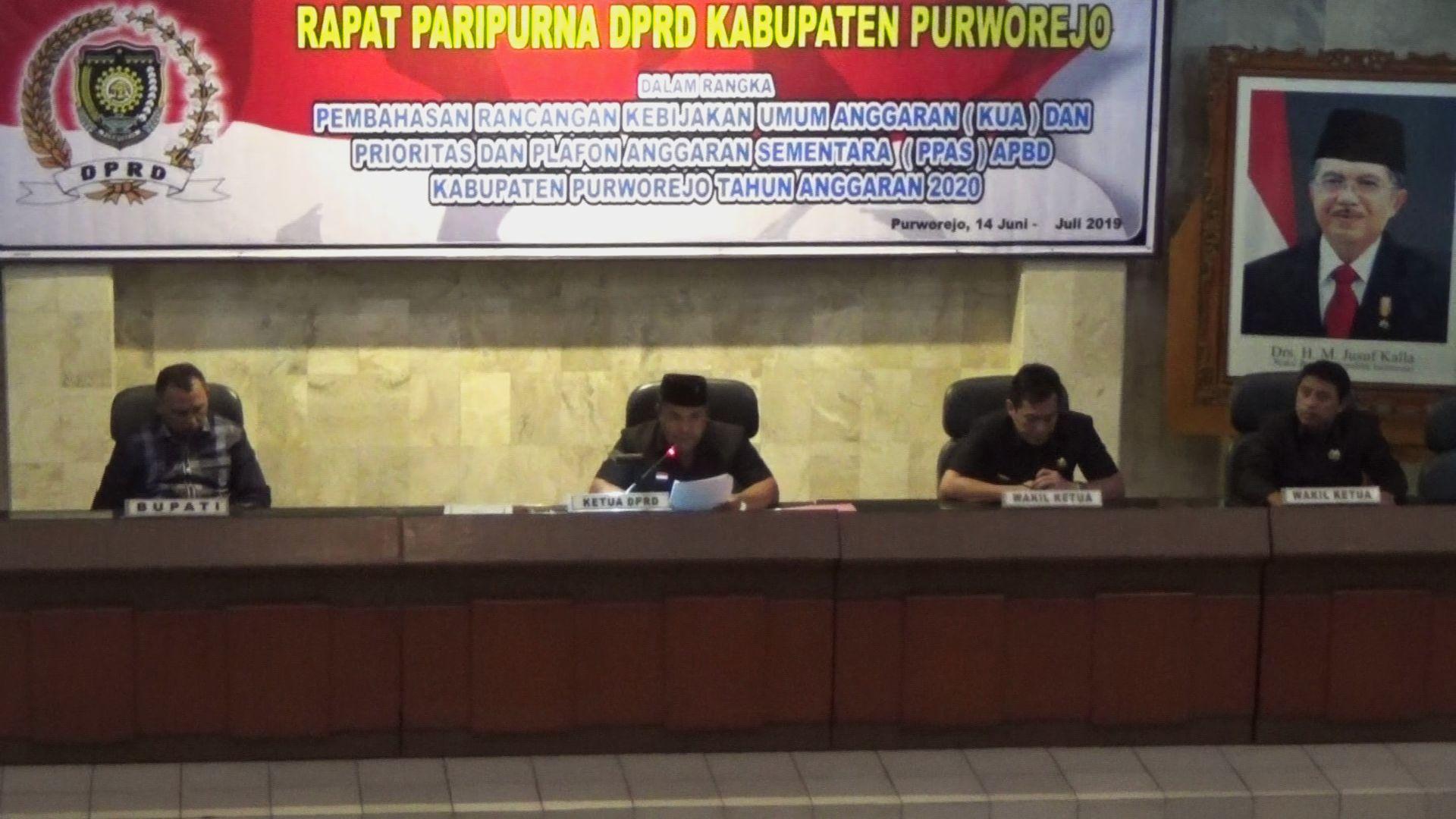 Sidang Paripurna DPRD Purworejo pada hari Senin, 8/7/2019