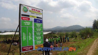 Lahan seluas 2 hektare yang akan dibangun Sentra Budidaya Domba di Purworejo Jawa Tengah.