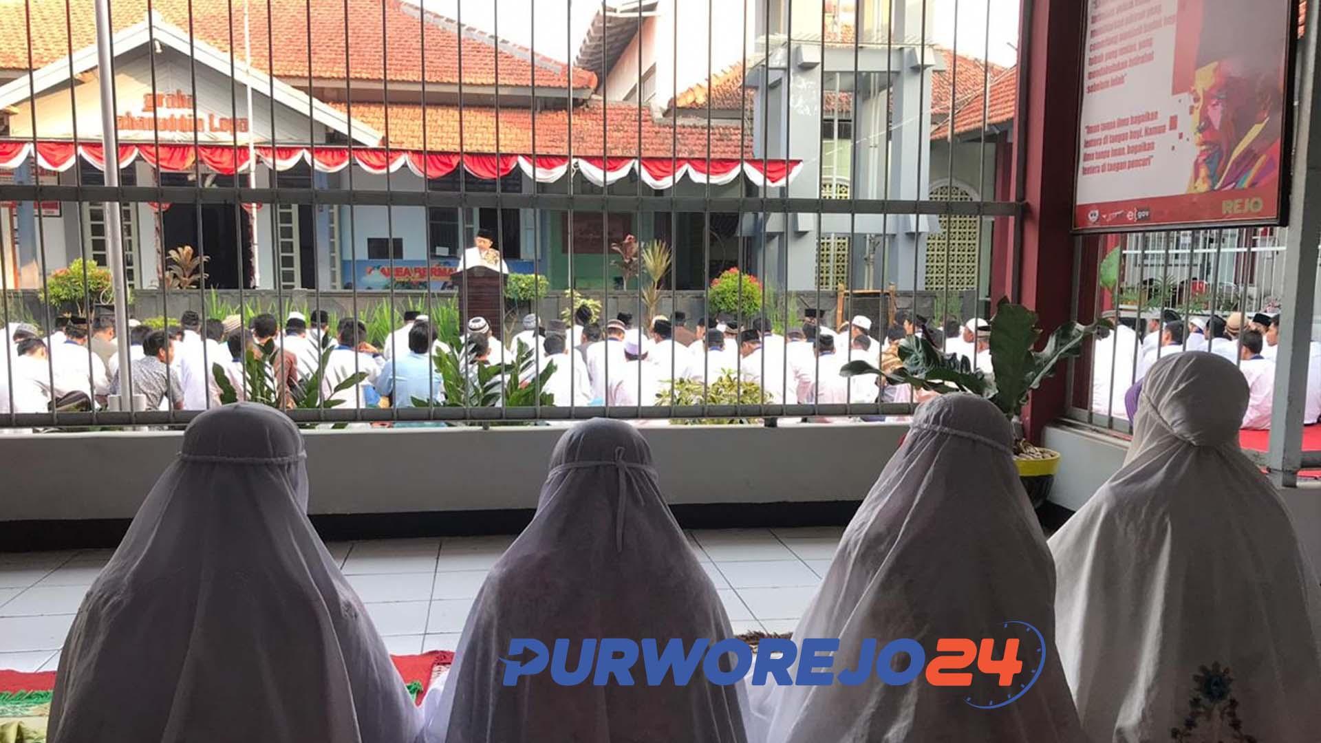 Penghuni Rutan Purworejo rayakan Idul Adha. (11/8/2019)