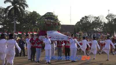 Peringatan HUT RI ke 73 di Purworejo tahun 2018.
