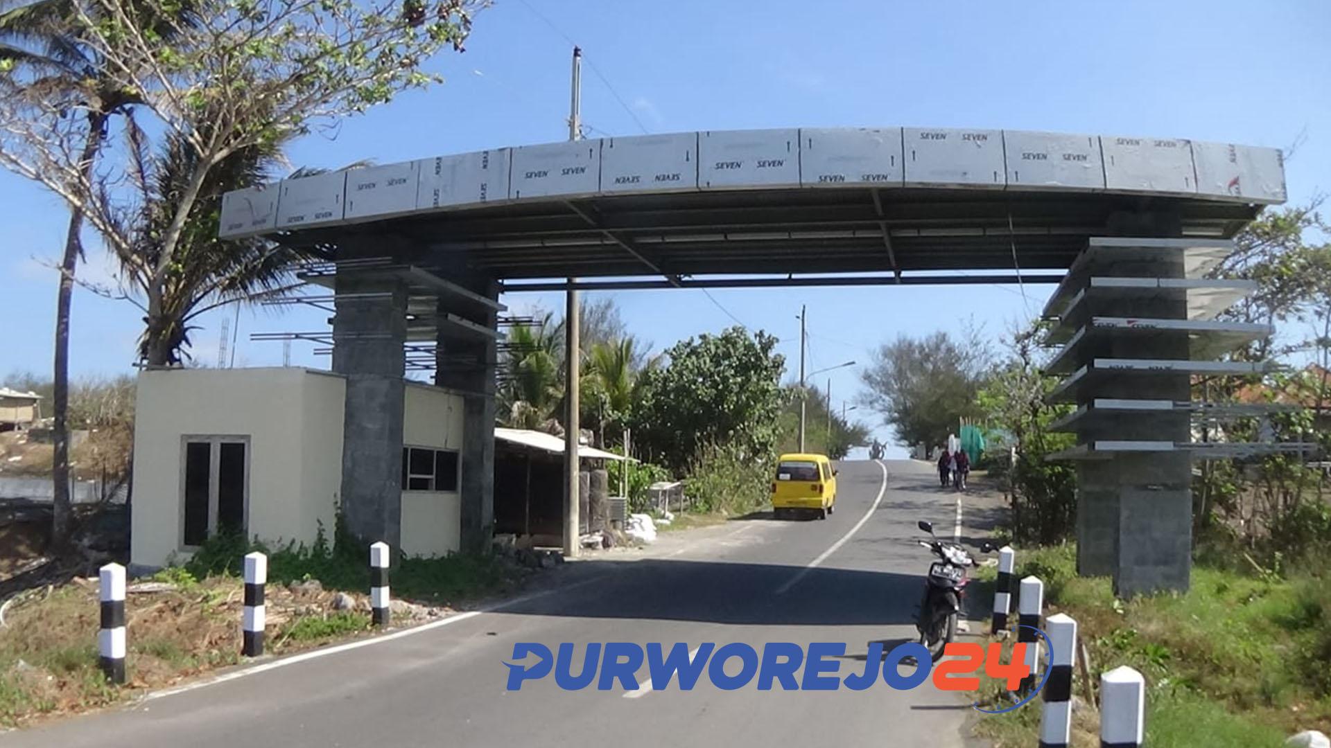 Gerbang masuk Pantai Jatimalang