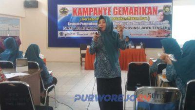 Kampanye Gemarikan di Aula Kantor Darma Wanita Persatuan Kabupaten Purworejo, Kamis (19/9/2019)
