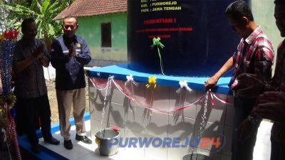 Kementerian ESDM menyerahkan sumur bor bantuan di Desa Lugurejo, Kecamatan Butuh. (14/9/2019)