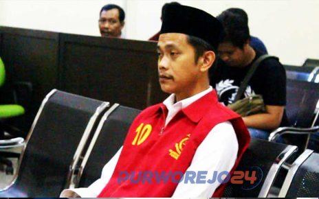 Terdakwa Gunardi divonis hukuman mati dalam sidang Putusan di PN Purworejo. (24/10/2019)