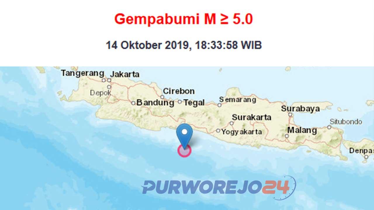 Gempa bumi pada 14 Oktober 2019. (Sumber BMKG)