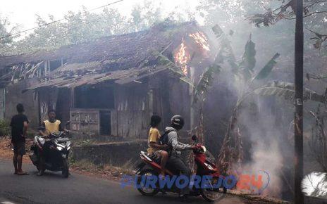 Satu rumah di pinggir hutan Jati ikut terbakar.