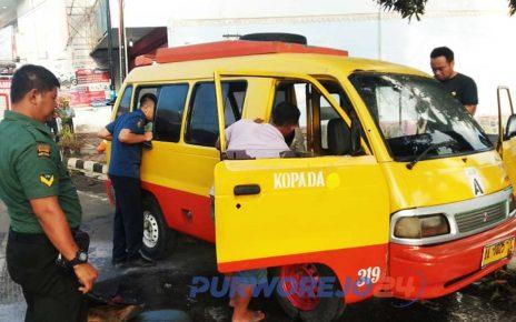 Kopada terbakar di jalan Panglima Sudirman Purworejo
