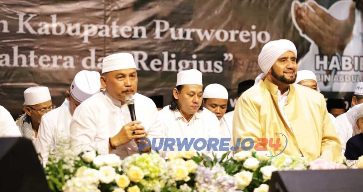 Habib Syech saat acara Purworjeo Bersolawat dalam PErinagtan Hari jadi Purworejo ke 189.
