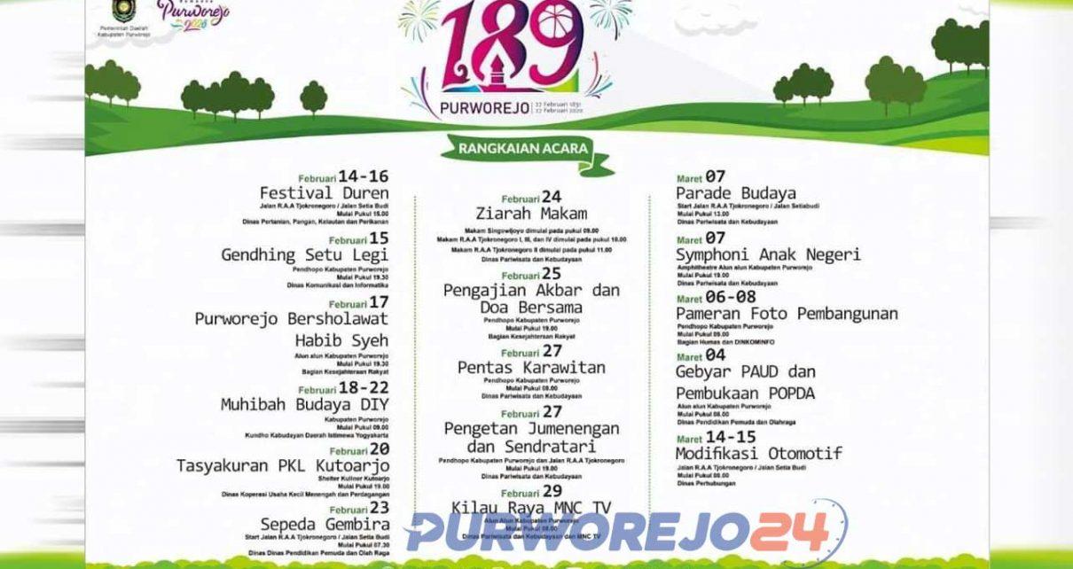 Rangkaian Hari Jadi Purworejo ke 189