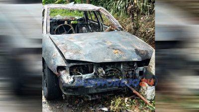Mobil sedan hangus terbakar di jalan Purworejo-Magelang