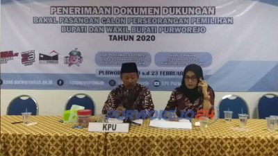 KPU Purworejo nyatakan pasangan Slamet Riyanto dan Suyanto tidak memenuhi syarat sebagai calon wakilbupati/wakil bupati jalur independen dalm Pilkada Purworejo 2020.