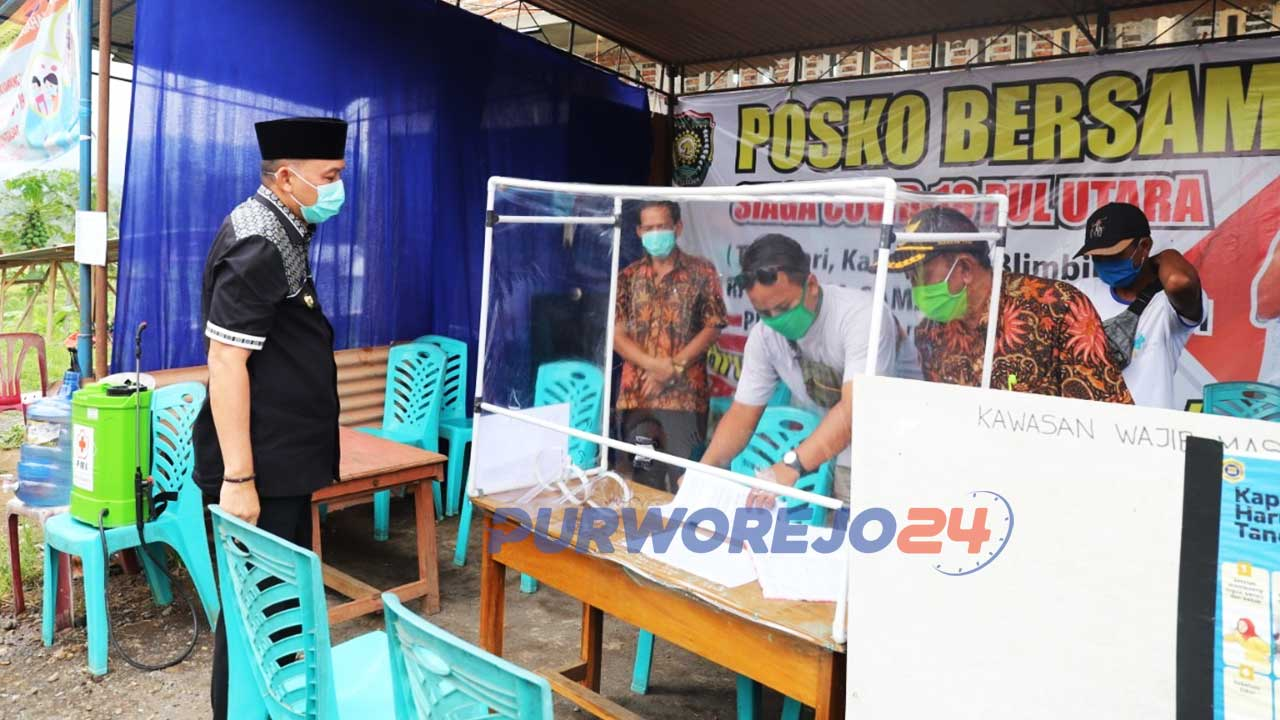 Bupati Purworejo kunjungi Posko Siaga Covid-19 di Loano
