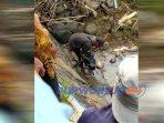 Sesosok mayat bayi ditemukan di Bendungan Sungai Kodilm Purworejo. (19/4/2020)
