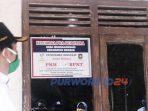 Penempelan label di rumah peserta PKH