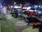 Ratusan pengunjung Alun-alun terjaring razia masker. (27/6/2020)