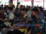 Bupati Purworejo saat Sosialisasi Bantuan Keuangan Kepada Pemerintah Desa, di Pendopo Kabupaten Purworejo, pada Selasa (11/08/2020).