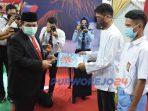 Pemberian remisi HUT Republik Indonesia yang ke 75 di Rutan Purworejo secara simbolk oleh Sekda Purworejo, Said Romadhon.