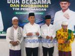 Doa bersama sesaat sebelum pendaftaran bapaslon Kuswanto-Kusnomo dalam Pilakda Purworejo 2020