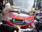 Gubernur Jawa Tengah Ganjar Pranowo meresmikan Tranjateng koridor Purwomaggung. (1/9/2020)