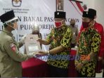 Pasangan Agustinus Susanto -Rahmad Kabuli Jarwinto mendaftarkan diri sebagai calon Bupati-Wakil Bupati ke KPU Purworejo