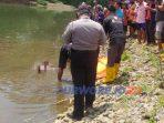Seorang warga Baledono ditemukan mengapung tewas mengapung di sungai Bogowonto, Purworejo (7/9/2020)