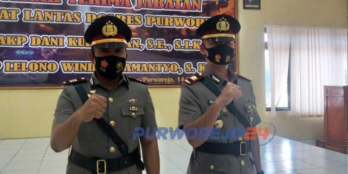 Kasal Lantas Polres Purworejo AKP Lelono Windi Bramantyo S.Kom saat Acara Sertijab beberapa waktu lalu.