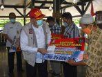 Penyerahan Bantuan Bahan Bangunan Rumah (BBR) Bagi Korban Bencana Tanah Bergerak di Kabupaten Purworejo