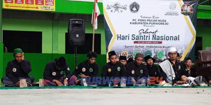 Peringatan Hari Santri Nasioanal 2020 dan Maulid Nabi Muhammad SAW di Lapangan Pondok Daruttauhid 8 Kecamatan Kemiri Kabupaten Purworejo