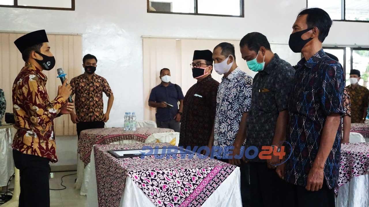 Sosialisasi netralitas kepala desa yang diselenggarakan Bawaslu Purworejo di Hotel Sanjaya Inn, Sabtu (3/10/2020).
