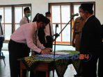 Pelantikan dan Bimbingan Teknis PTPS se-Kecamatan Pituruh di Balai pertemuan Desa Pituruh, Senin (16/11).