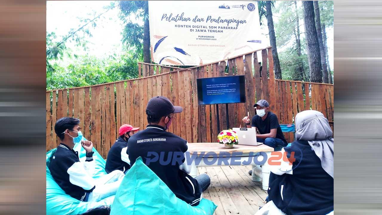 Pelatihan dan Pendampingan Konten Digital SDM Parekraf di De Loano Glamping, Desa Sedayu, Loano Purworejo