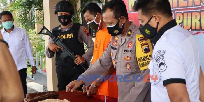 Polres Purworejo menangkap pelaku kasus persetubuhan anak dibawah umur yang terjadi di salah satu SD di Kabupaten Purworejo.