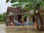 Banjir di desa Woronatan Butuh. (13/12/2020)