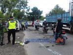 Kecelakaan di jalan raya Purworejo Yogyakarta, Desa Popongan Kecamtan Banyuurip Purworejo