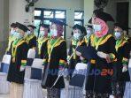Wisuda Diploma III Kebidanan Periode X Tahun 2020 Akbid Bhakti Putra BangsaPurworejo, Sabtu (19/12/2020)