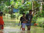 Banjir di Desa Bapangsari, Kecamatan Bagelen, Purworejo. (12/1/2021)