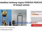 Petisi pemolakan penggantian patung di Monumen Perjuangan Purworejo di laman Change.org