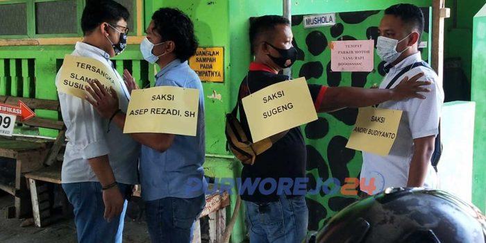 Rekonstruksi dugaan kasus penganiayaan dengan tersangka Slamet Anom Susilo di Omah Londo, Rabu (13/1/2021).