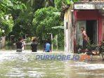 Banjir di desa Wingko Sangrahan Kecamatan Ngombol, Rabu (11/2/2021)
