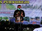 Bupati Purworejo Agus Bastian saat meresmikan 17 proyek di tahun 2020.