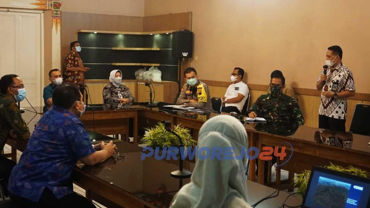 Pertemuan antara BBWSO dengan Pemkab Purworejo serta Forkopimda. di ruang Bagelen Setda Purworejo. Kamis (29/04/2021