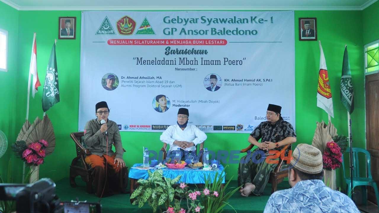 Sarasehan yang bertajuk Gebyar Syawalan yang dilakukan GP Ansor Ranting Baledono