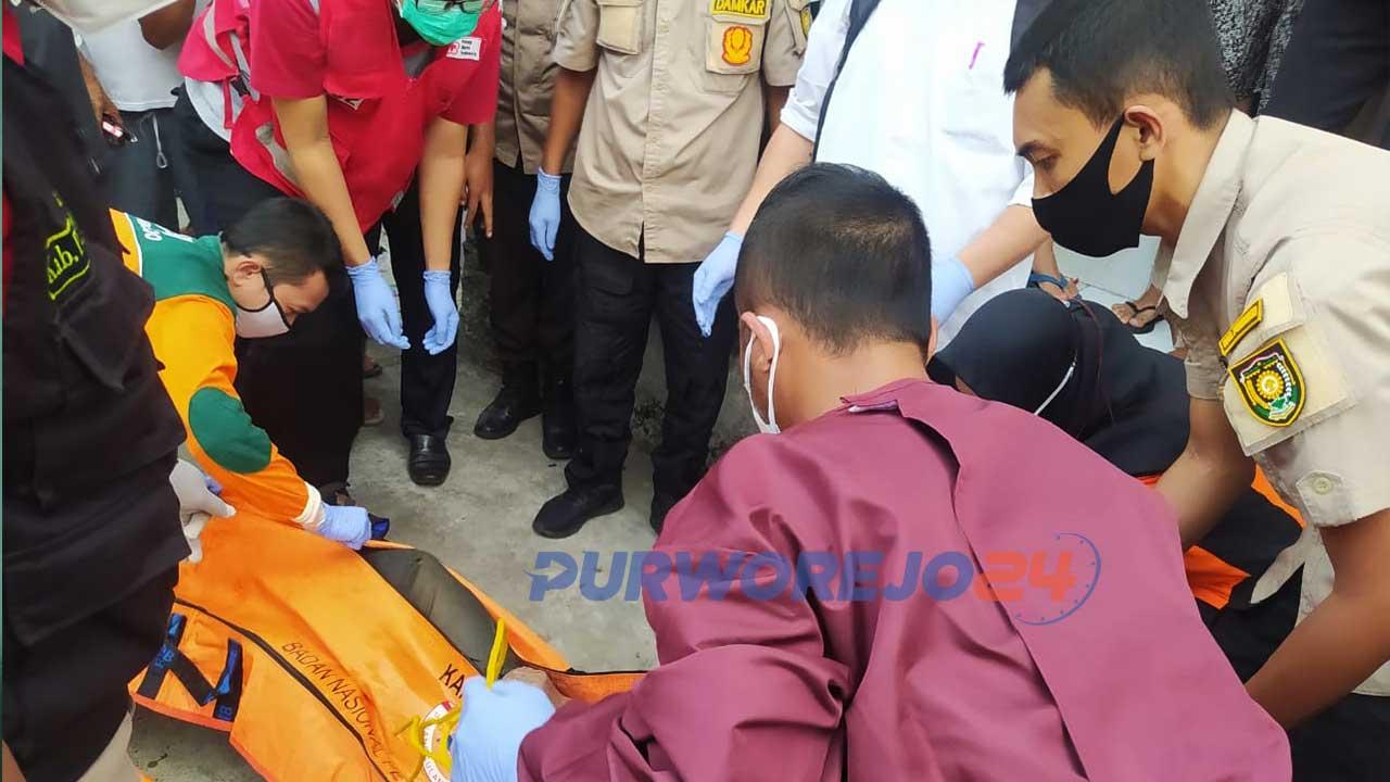 Penemuan mayat di sungai Kedung Putri Purworejo, Rabu (30/6/2021)